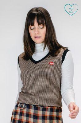 Mademoiselle yeye spencer miss preppy sweater vest bordeaux