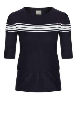 Mademoiselle yeye trui I got stripes knit blauw