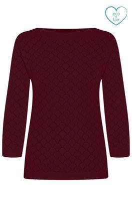 Mademoiselle yeye trui staying up sweater bordeaux