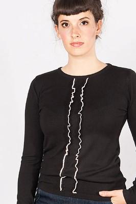 Mademoiselle yeye trui stina zwart multi