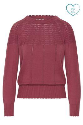 Mademoiselle yeye trui tonight knit top roze