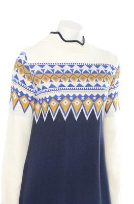 MdM jurk blue fringe