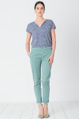 Miss Green broek billie jean groen