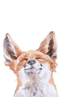 Mook wenskaart happy fox multicolor