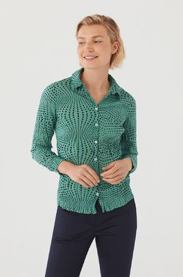 Nice Things bloes basic shirt 99 groen