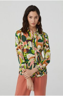Nice Things bloes basic shirt 99 multicolor