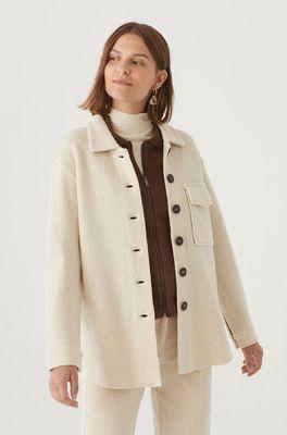 Nice Things bloes boiled wool overshirt creme