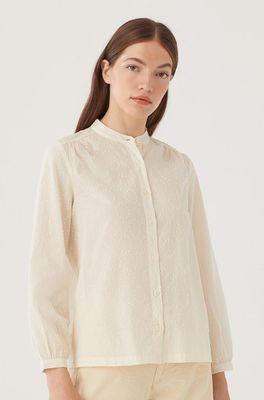 Nice Things bloes dobby circles shirt ecru