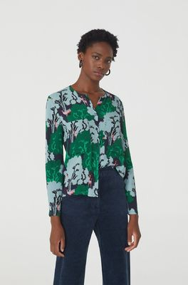 Nice Things bloes woodlands print top blauw