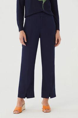 Nice Things broek cropped lined pants blauw
