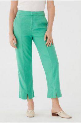 Nice Things broek cropped lined pants groen