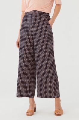 Nice Things broek pants kette print blauw