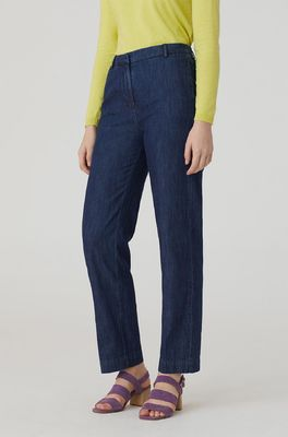 Nice Things broek straight blauw
