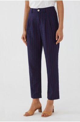 Nice Things broek striped pants blauw