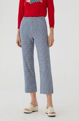 Nice Things broek vichy crop pants blauw