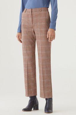 Nice Things broek wales checks tailored pants bruin