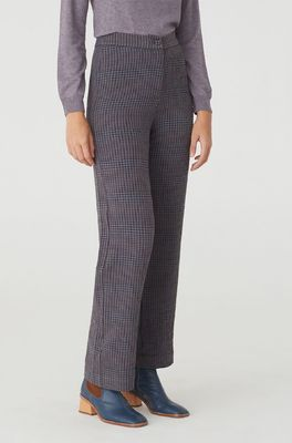 Nice Things broek wide checked pants grijs