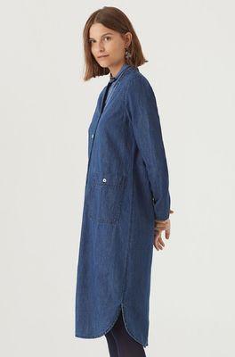 Nice Things jurk denim dress blauw
