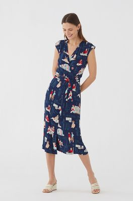 Nice Things jurk dress bauhaus women blauw