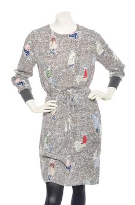 Nice Things jurk WWH231 multicolor
