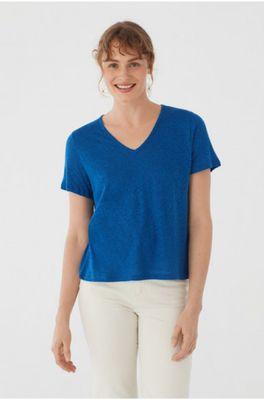 Nice Things t shirt v-neck blauw