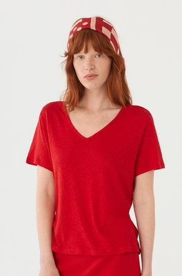 Nice Things t shirt v-neck rood