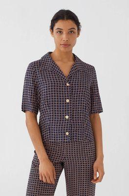Nice Things top shirt kette print blauw