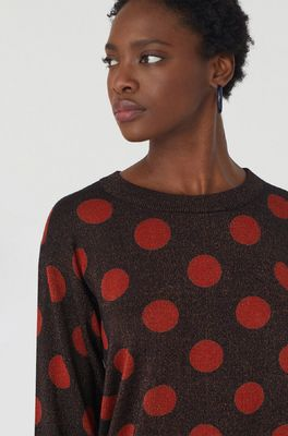 Nice Things trui dotted sweater bruin