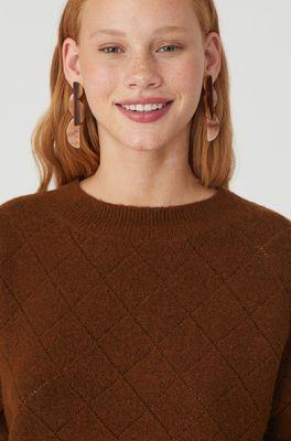 Nice Things trui openwork sweater bruin