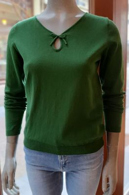 Nice Things trui with bow neckline groen