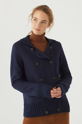 Nice Things vest double breasted jacket blauw