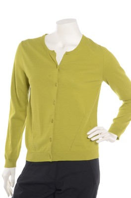 Nice Things vest round neck groen