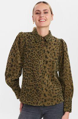 Numph bloes nuchelsea shirt groen