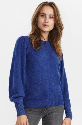 Numph trui nuchaney pullover blauw