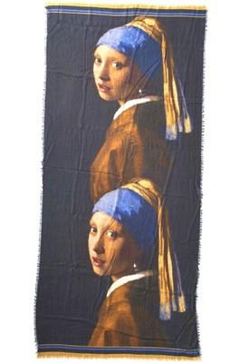 Otracosa shawl vermeer girl with pearl