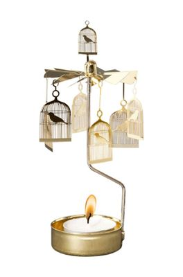 Pluto waxinelichthoudertje bird cage goud