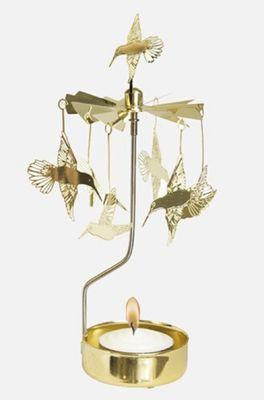 Pluto waxinelichthoudertje hummingbird zilver
