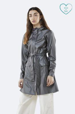 Rains jas curve jacket grijs