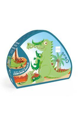 Scratch puzzel contour krokodil