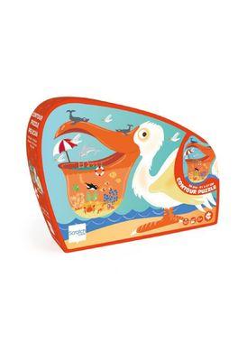 Scratch puzzel contour pelikaan