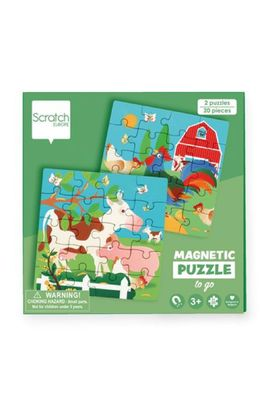 Scratch puzzel magnetisch boerderij