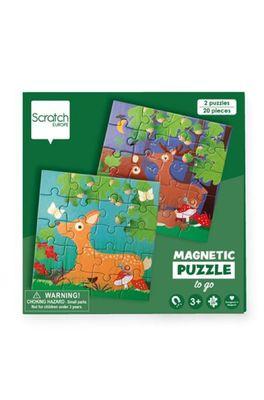 Scratch puzzel magnetisch bosdieren