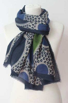 Sjaelz shawl  blauw