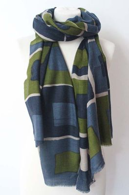 Sjaelz shawl  olijf