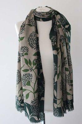 Sjaelz shawl Blossom groen