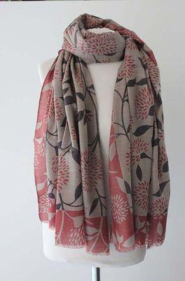 Sjaelz shawl Blossom roze
