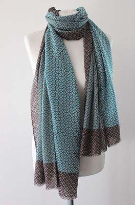 Sjaelz shawl Lotus bruin