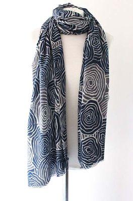 Sjaelz shawl Meander  grijs