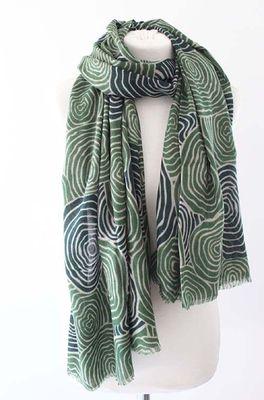 Sjaelz shawl Meander  groen
