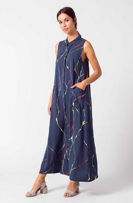 Skunkfunk jurk metxe blauw